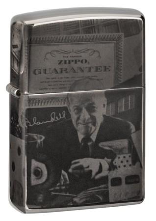 Зажигалка Zippo George Blaisdell с покрытием Black Ice® 49134 - фото 8423