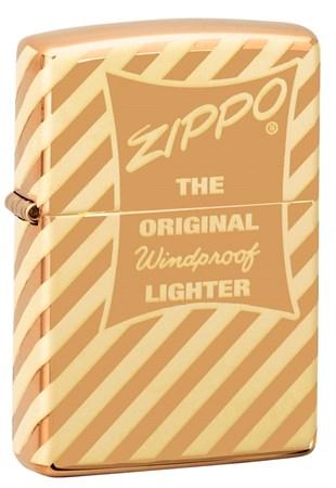 Зажигалка Zippo Vintage Box Top с покрытием High Polish Brass 49075 - фото 8433