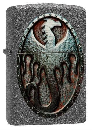 Зажигалка Zippo Metal Dragon Shield Design с покрытием Iron Stone™ 49072 - фото 8464