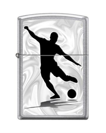 Зажигалка Zippo Футболист с покрытием Street Chrome™ 207_football - фото 8620