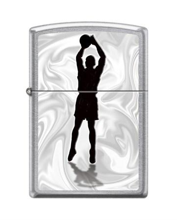 Зажигалка Zippo Баскетболист с покрытием Street Chrome™ 207_basketball - фото 8622