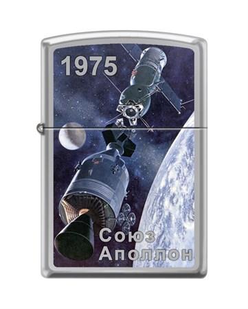 Зажигалка Zippo Союз-Аполлон с покрытием High Polish Chrome 250_Soyuz-Apollo - фото 8626