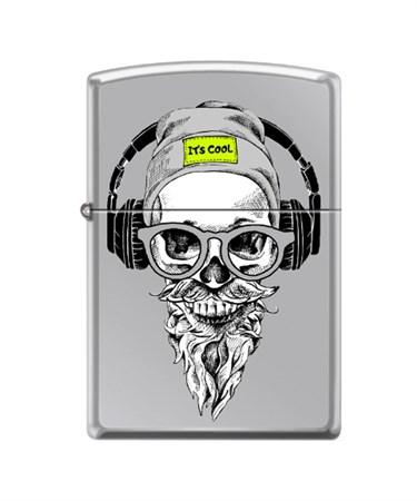 Зажигалка Zippo Хипстер с покрытием High Polish Chrome 250_hipster - фото 8632