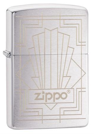 Зажигалка ZIPPO Brushed Chrome 49206 - фото 8958