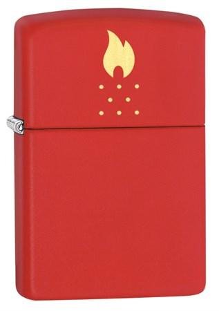 Зажигалка ZIPPO Red Matte 49231 - фото 8990