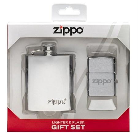Подарочный набор ZIPPO фляжка и зажигалка 49098 - фото 8994