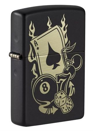 Зажигалка ZIPPO Gambling Design 49257_DBL4904 - фото 9140