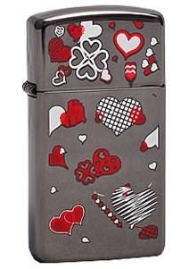 Зажигалка Zippo Hearts 20492 - фото 9315