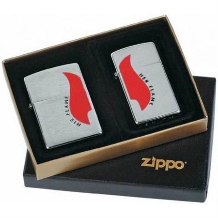 Подарочный набор Zippo COMB His&Her Flame (290.057) - фото 9317