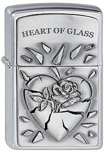 Зажигалка Zippo 200 Heart of Glass Emblem - фото 9331