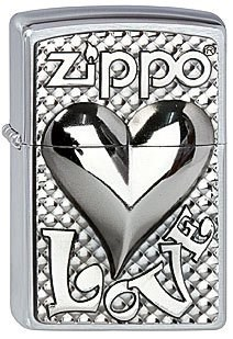 Зажигалка Zippo 207 Love Heart Emblem - фото 9344