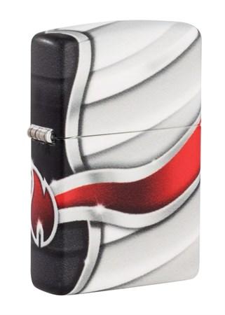 Зажигалка Zippo Flame Design с покрытием White Matte 49357 - фото 9398