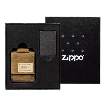 Набор ZIPPO: чёрная зажигалка Black Crackle 49401 - фото 9458