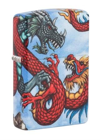Зажигалка Zippo Dragon с покрытием White Matte 49354 - фото 9465