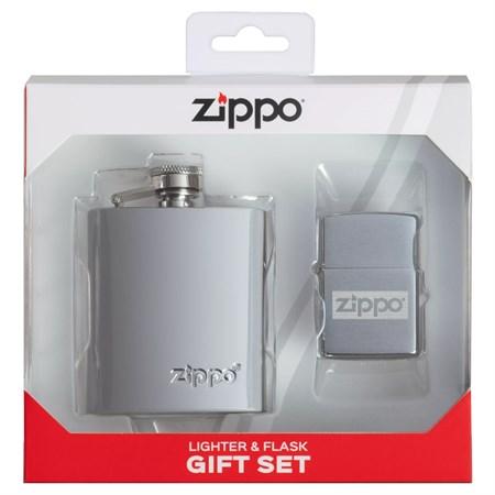 Подарочный набор ZIPPO: фляжка 89 мл и зажигалка 49358 - фото 9477