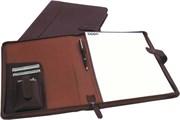 Папка для документов с блокнотом А4 Zippo 63011 BL-330 коричневая