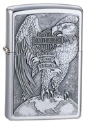 Широкая зажигалка Zippo H-D Eagle & Globe 200HD H231