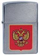 Широкая зажигалка Zippo 205 Cubes 200 Герб России
