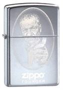Широкая зажигалка Zippo Founder 24197