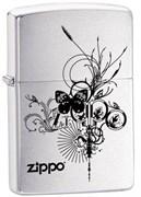 Широкая зажигалка Zippo Zippo Butterfly 24800