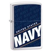 Широкая зажигалка Zippo Us Navy 24813