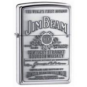 Широкая зажигалка Zippo Jim Beam 250JB 928