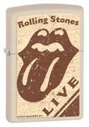 Широкая зажигалка Zippo Rolling Stones 28018