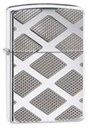 Широкая зажигалка Zippo Armor Carved Diamond 28637