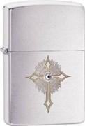 Широкая зажигалка Zippo Cross Swarovski 28804