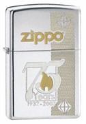 Широкая зажигалка Zippo 75th Anniversary Commemorative 24058
