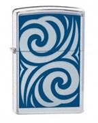 Широкая зажигалка Zippo Cobalt Curl 24006