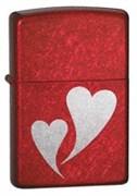 Широкая зажигалка Zippo Double Hearts 24183