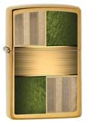 Широкая зажигалка Zippo Emerald Square Design 28796