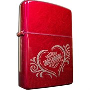 Широкая зажигалка Zippo H-D Heart 21079