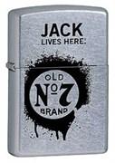 Широкая зажигалка Zippo Jack Daniel's 24536