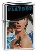 Широкая зажигалка Zippo Playboy 20952