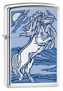 Широкая зажигалка Zippo Rampant stallion 21162