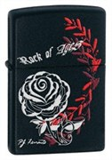 Широкая зажигалка Zippo Rose 24556