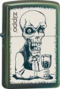 Широкая зажигалка Zippo Skeleton Bartender 28679