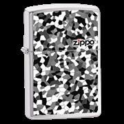 Широкая зажигалка Zippo Broken Glass 24807