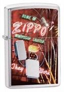 Широкая зажигалка Zippo Neon Sign 24069