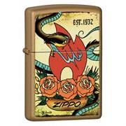 Широкая зажигалка Zippo Tattoo 24043
