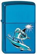 Широкая зажигалка Zippo Dolphins 20446
