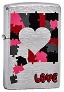 Широкая зажигалка Zippo Love Puzzle 200