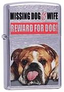 Широкая зажигалка Zippo Missing Dog&Wife 200
