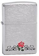 Широкая зажигалка Zippo Rose Design 200