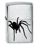 Широкая зажигалка Zippo Spider Black 200