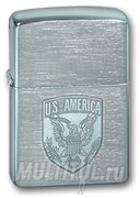 Широкая зажигалка Zippo US of America 200