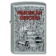 Широкая зажигалка Zippo American Trucker 2 205