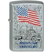 Широкая зажигалка Zippo American Trucking 3 205